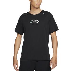 Nike Tokyo Rise 365 Camiseta - Black/Green Glow