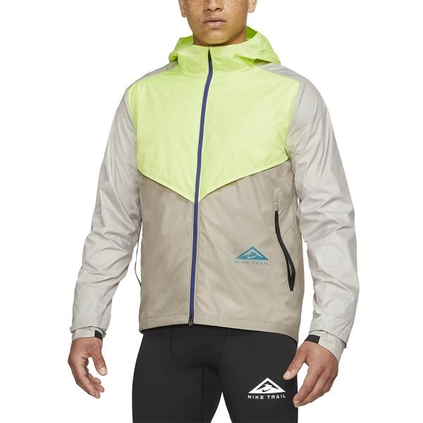 Nike Windrunner Trail Jacket - Light Lemon Twist/Moon Fossil/Bright Spruce