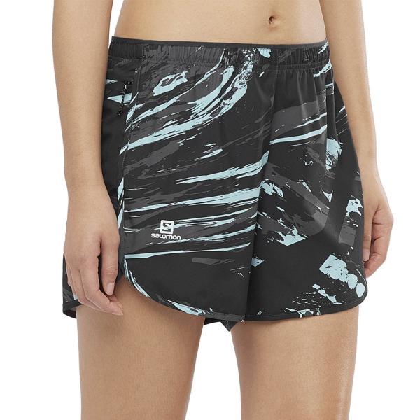 Salomon Agile 4in Shorts - Crystal Blue/AO/Black