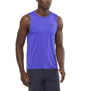 Men's Running Sleeveless Salomon Agile Tank  Clematis Blue LC1527500