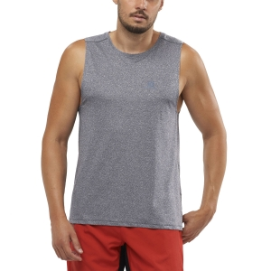 Men's Running Sleeveless Salomon Agile Tank  Night Sky/Heather LC1527400