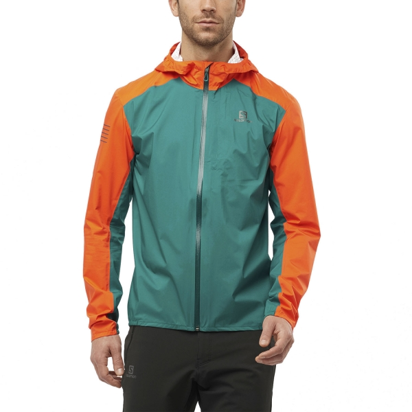 Salomon Bonatti WP Jacket - Pacific/Red Orange
