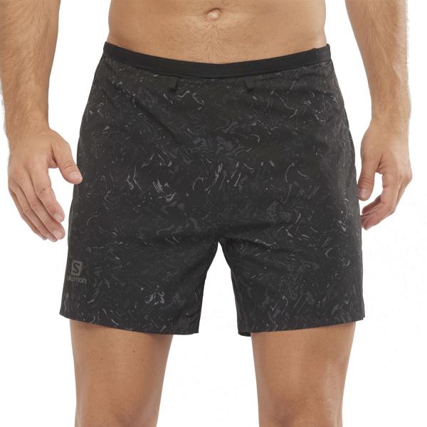 Salomon Sense Logo 5in Shorts - AO/Black