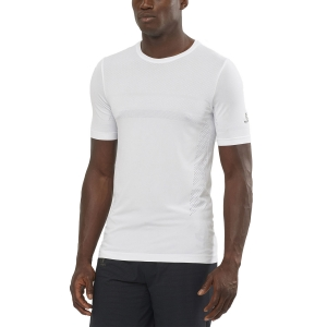 Men's Running T-Shirt Salomon Sense Seamless TShirt  White LC1498900