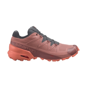 Women's Trail Running Shoes Salomon Speedcross 5  Brick Dust/Persimon L41309000