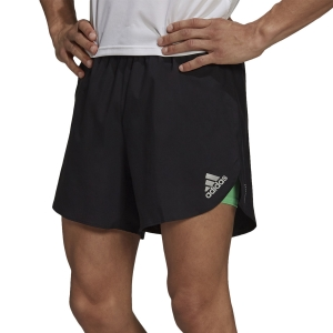 adidas Fast Primeblue 2 in 1 6.5in Shorts - Black/Semi Screaming Green