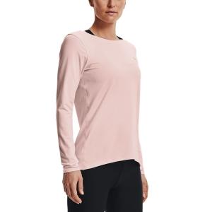 Under Armour HeatGear Logo Shirt - Micro Pink/Metallic Silver