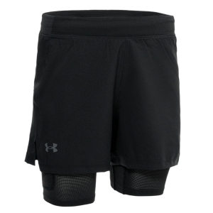 Pantalones cortos Running Hombre Under Armour IsoChill 2 In 1 5in Shorts  Black/Reflective 13648580001