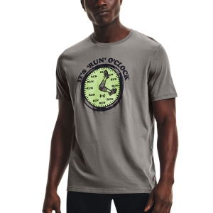 Under Armour Keep Run Weird T-Shirt - Concrete/Black