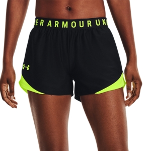 Under Armour Play Up 3.0 3in Pantaloncini - Black/High Vis Yellow