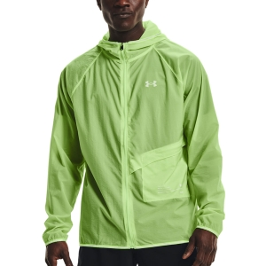Under Armour Qualifier Storm Packable Giacca - Summer Lime/Hyper Green/Reflective