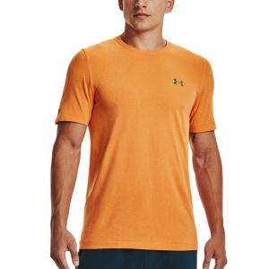 Under Armour Rush Seamless T-Shirt - Omega Orange/Black