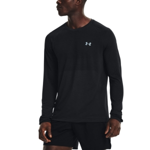 Under Armour Seamless Run Shirt - Black/Reflective