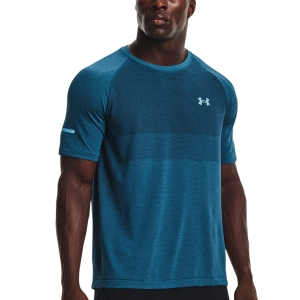 Under Armour Vanish Seamless T-Shirt - Blue Flannel/Blue Note/Reflective
