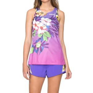 Women's Running Tank Top Desigual Garden Tank  Purple 71T2SB23168