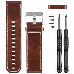 Sport Watche Spare Band Garmin Leather watch band for fenix 3/tactix Bravo/D2 Bravo/quatix 3  Brown 0101216812