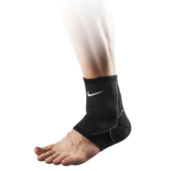 Sport Supports Nike Advantage Knitted Ankle Sleeve  Black/Grey N.MS.75.031