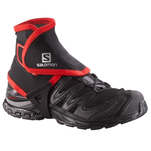 Running Accessories Salomon Trail Gaiters High  Black/Red L38002100