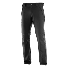 Men's Outdoor Trousers Salomon Wayfarer Zip Pants Black L39311300