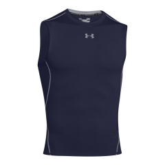 Men's Running Sleeveless Under Armour HeatGear Compression Singlet  Navy 12574690410