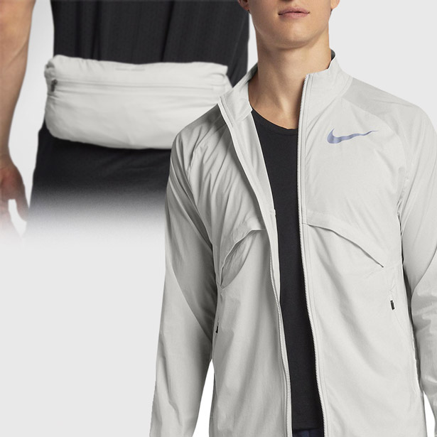 Men Packable Running Jacket